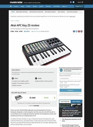 MusicRadar.com Akai APC Key 25
