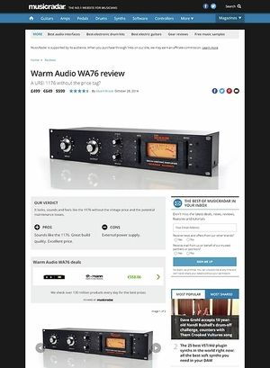 MusicRadar.com Warm Audio WA76