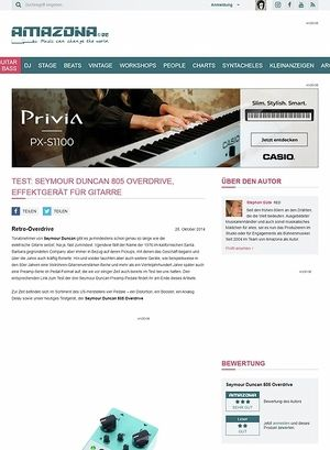 Amazona.de Test: Seymour Duncan 805 Overdrive, Effektgerät für Gitarre
