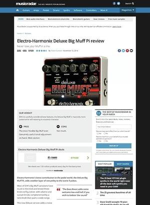 MusicRadar.com Electro-Harmonix Deluxe Big Muff Pi
