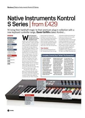 Future Music Native Instruments Kontrol S Series