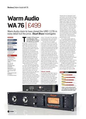 Future Music Warm Audio WA 76
