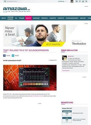 Amazona.de Test: Roland TR-8 7X7, Soundexpansion