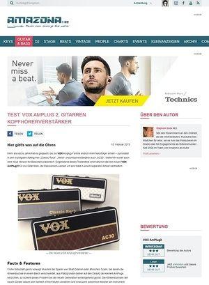 Amazona.de Test: VOX AmPlug2, Gitarren Kopfhörerverstärker