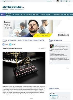 Amazona.de Test: Korg SQ-1, Analoger Step-Sequencer