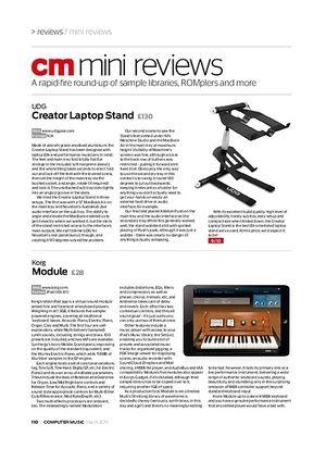 Computer Music UDG Creator Laptop Stand