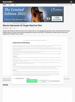 Bonedo.de EHX C9 Organ Machine