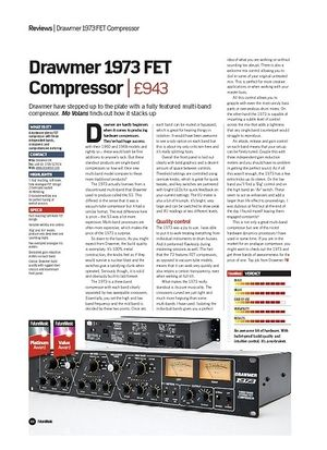 Future Music Drawmer 1973 FET Compressor
