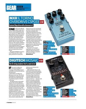 Total Guitar Mxr Il Torino Overdrive Csp033