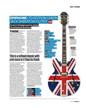 Total Guitar Epiphone Ltd Edition Union Jack Sheraton Outfit