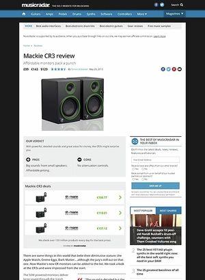 MusicRadar.com Mackie CR3