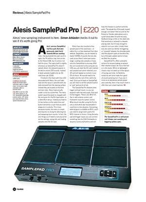 Future Music Alesis SamplePad Pro