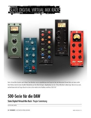 Sound & Recording Slate Digital Virtual Mix Rack - Plugin-Sammlung