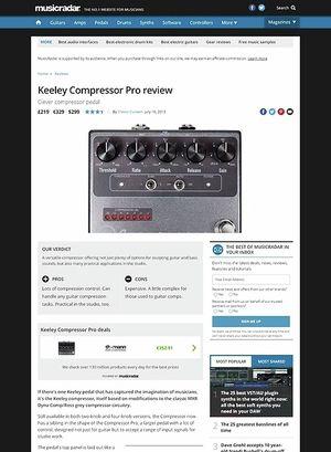 MusicRadar.com Keeley Compressor Pro