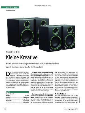 Recording Magazin Mackie CR3 & CR4