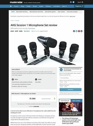 MusicRadar.com AKG Session 1 Microphone Set