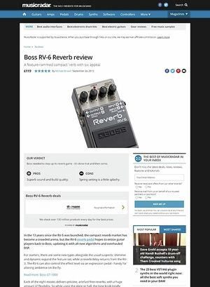 MusicRadar.com Boss RV-6 Reverb