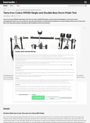 Bonedo.de Tama Iron Cobra HP600 Single und Double Bass Drum Pedal