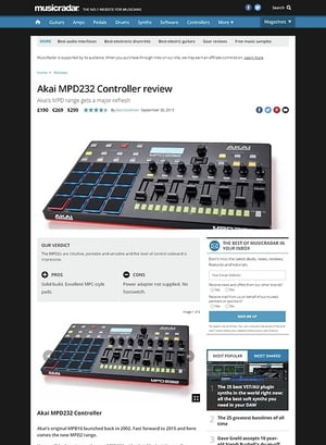MusicRadar.com Akai MPD232 Controller