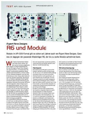 KEYS Rupert Neve Designs R6 und Module