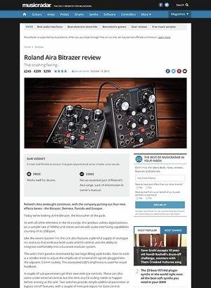 MusicRadar.com Roland Aira Bitrazer