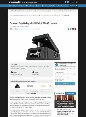 MusicRadar.com Dunlop Cry Baby Mini Wah CBM95