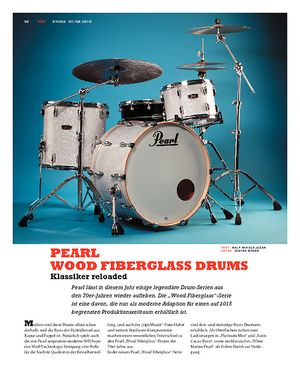 Sticks Pearl Wood Fiberglass Drums