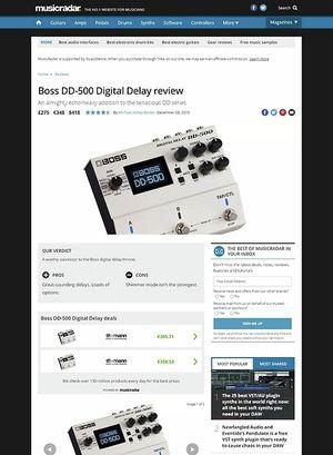 MusicRadar.com Boss DD-500 Digital Delay