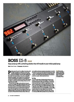 Guitarist Boss ES-8