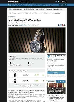 MusicRadar.com Audio-Technica ATH-R70x