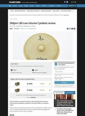 MusicRadar.com Zildjian L80 Low Volume Cymbals