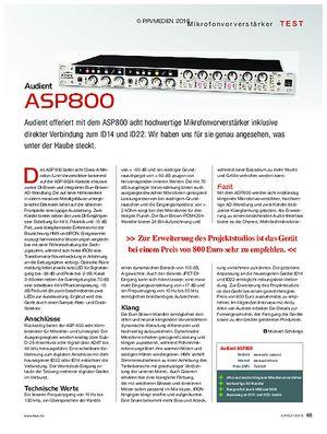 KEYS Audient ASP800