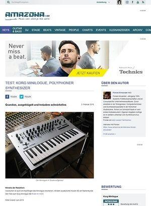 Amazona.de Test: Korg Minilogue, polyphoner Synthesizer