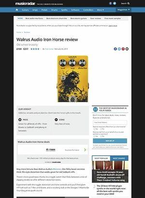 MusicRadar.com Walrus Audio Iron Horse