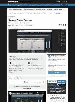 MusicRadar.com iZotope Ozone 7