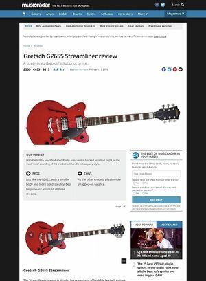 MusicRadar.com Gretsch G2655 Streamliner