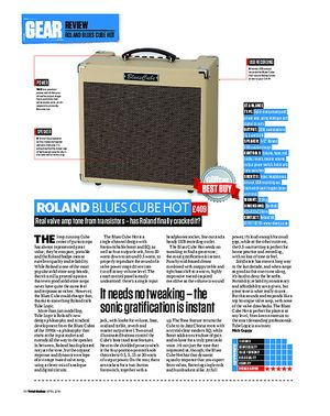Total Guitar Roland Blues Cube Hot