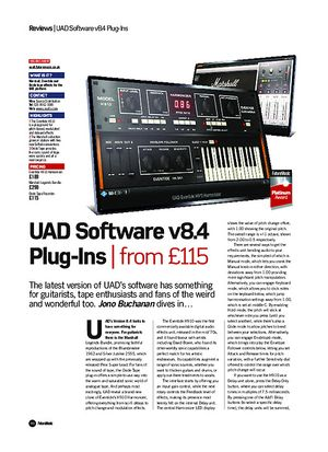 Future Music UAD Software v8.4 Plug-Ins