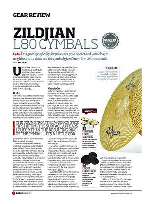 Rhythm Zildjian L80 Cymbals