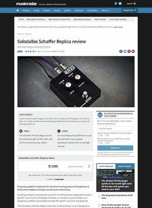 MusicRadar.com Solodallas Schaffer Replica