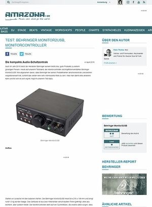 Amazona.de Test: Behringer Monitor2USB, Monitorcontroller