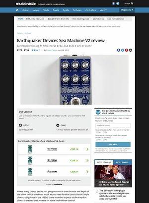MusicRadar.com Earthquaker Devices Sea Machine V2