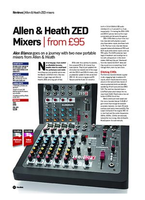 Future Music Allen & Heath ZED Mixers