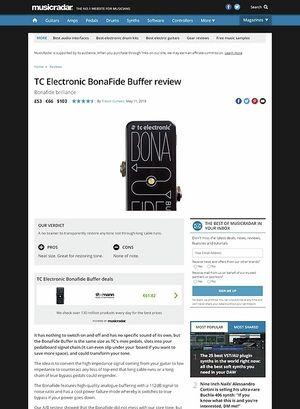 MusicRadar.com TC Electronic BonaFide Buffer