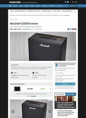 MusicRadar.com Marshall CODE50