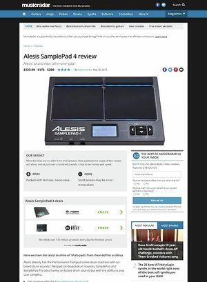 MusicRadar.com Alesis SamplePad 4