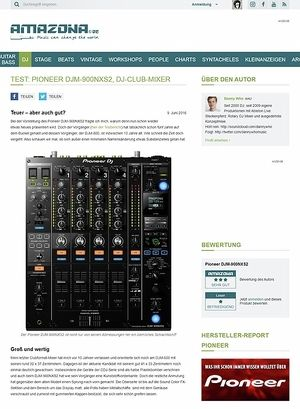 Amazona.de Test: Pioneer DJM-900NXS2, DJ-Club-Mixer