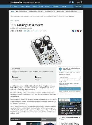 MusicRadar.com DOD Looking Glass