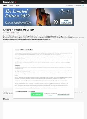 Bonedo.de Electro Harmonix MEL9
