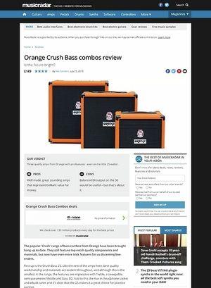 MusicRadar.com Orange Crush Bass combos
